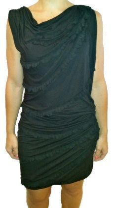 BCBG MaxAzria RUNWAY Black Ruffle Dress