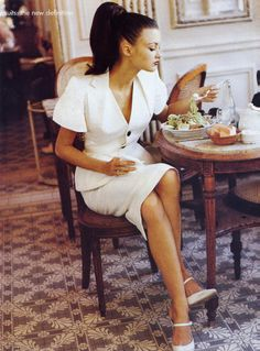 "80s-90s-supermodels:""Suits: The New Definition"", VOGUE US, January 1995Photographer: Pamela HansonModel: Trish Goff"