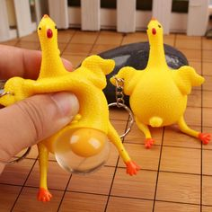 Anti Stress Squeeze Chicken Egg Laying Chickens Novelty & Gag Toys Party Prank Joke Toys Decompression Fun Pet Toys