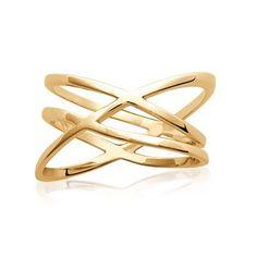 Ring i forgyldt sølv Bredde18 mm