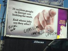 Destroyed #UKIP billboards The new craze that's sweeping the nation.