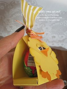 Spring Tea and Easter Treats - baby chick egg crate… Stampin' Up!® - Stamp Your Art Out! www.stampyourartout.com