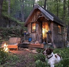 Tiny Cabins, Tiny House Cabin, Cabins And Cottages, Tiny House Design, Cabin Homes, Tiny Homes, Log Cabins, Into The Woods, Cabin In The Woods