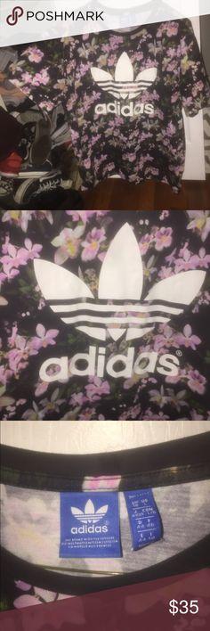 Adidas floral shirt Pink floral adidas t shirt . No rips wear or tear adidas Tops