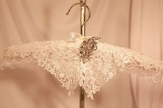 Padded WeDDING HANGeR  HANGER COUTURE  White by TheGoldenTurtle, $45.00