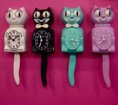 I love these. our neighbor had one encrusted with rhinestones. :) ~ kit kat clocks