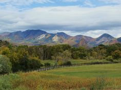 Fall Is Taking Over (clouds Fall+colors Summer mountains trees ). Photo by…