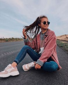 Fashion 2019 New Moda Style - fashion Mode Outfits, Fall Outfits, Fashion Outfits, Outfits For Photoshoot, Flannel Outfits, Outfit Winter, Fashion Fall, School Outfits, Summer Outfits