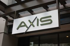 Axis Building Sign in Aluminum. Seattle, WA