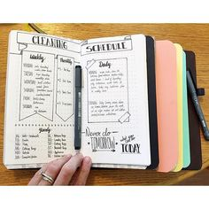 Amazing cleaning tracker bujo ideas to try out in your bullet journal! cleaning tracker monthly spread ideas as well as weekly to keep a neat and tidy home! Bullet Journal Cleaning Schedule, Planner Bullet Journal, Bullet Journal Layout, My Journal, Bullet Journal Inspiration, Journal Pages, Cleaning Schedules, Cleaning Checklist, Bullet Journals