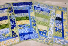WELCOME SPRING Quilted Placemats  Set of 4 by vschwam on Etsy, $45.00