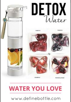 Your must have summer accessory for fruit infused water to take on the go. A new twist to the old water bottle