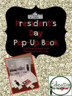 President's Day Pop-Up Book and resources for creative President's Day writing activities! $