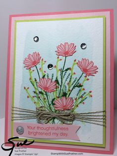 Seventeen Stampin' Up! Projects by Amy's Inkin' Krew Featured Stampers Seventeen Stampin' Up! Projects by Amy's Inkin' Krew Featured Stampers – Stamp With Amy K Stampin Up Karten, Karten Diy, Daisy Delight Stampin' Up, Stampin Up Catalog, Stamping Up Cards, Pretty Cards, Sympathy Cards, Flower Cards, Greeting Cards Handmade