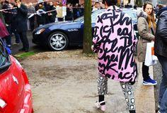Moschino coat, Stella McCartney pants