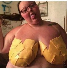 fat woman eating cheese