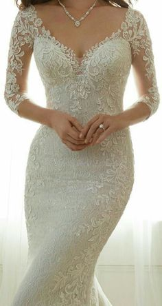 Wedding Gown Wedding Dress by Sophia Tolli Spring 2017 Bridal Collection Wedding Dress Sleeves, Dream Wedding Dresses, Bridal Dresses, Dresses With Sleeves, Lace Sleeves, Dress Lace, Trumpet Wedding Dresses, Wedding Gown Lace, Lace Gowns