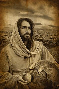 "In our broken world, we need JESUS. Don't usually like ""pictures""of Jesus, but this one looked so real and Jewish to me."