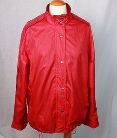 RALPH LAUREN L Women's lined full zip windbreaker jacket full zip lined Large #RALPHLAUREN #Windbreaker