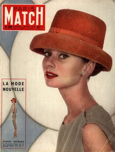 Audrey Hepburn on the cover of Paris Match, 1956. http://hoodoothatvoodoo.tumblr.com/post/18061203682