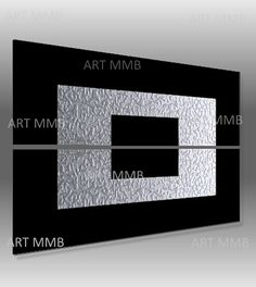 Produzione Quadri moderni astratti 100% dipinti a mano 2 Quadri Moderni Astratti Toni del nero e argento