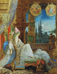 Gustave Moreau (1826-1898) The Dream Haunting the Mogul Watercolor -1881