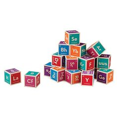 Look what I found at UncommonGoods: Periodic Table Building Blocks for $32.95 #uncommongoods