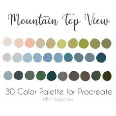 Colour Schemes, Color Combos, Design Palette, Green Colour Palette, Digital Art Tutorial, Ipad Art, Blue Aesthetic, Color Swatches, Color Inspiration