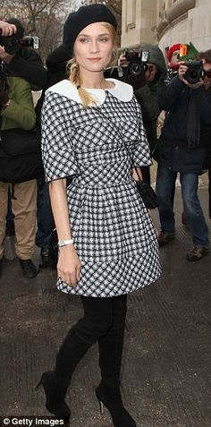 Diane Kruger at Chanel haute couture fashion show Jan. 2013