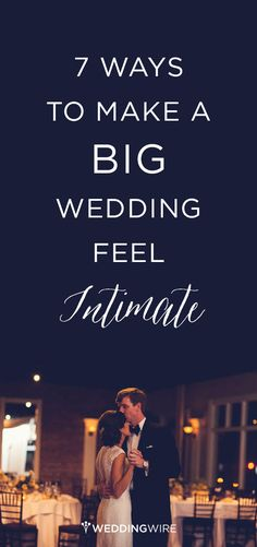 If you're worried a large celebration may result in fewer intimate and special moments, don't stress! @weddingwire has 7 ways to make your grand-scale wedding a little more personal.
