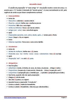 Resumão de crase feito pelo Professor Leo www.materiaisdeportugues.com.br