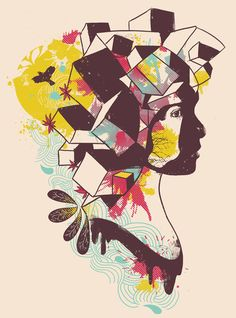 "Overcrowded Memory by Norman Duenas ART PRINT / MINI (8"" X 10"")"