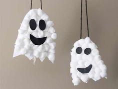 fantasma de algodon manualidad