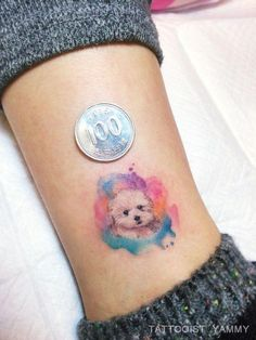 Pin by ellie m on tattoos i'll never get мини татуировки, милые тату, татуировки Mini Tattoos, Small Dog Tattoos, Foot Tattoos, Cute Tattoos, Beautiful Tattoos, Body Art Tattoos, Puppy Tattoo, Horse Tattoos, Tattoo Baby