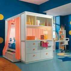Such a cute idea for kids use an old entertainment center????
