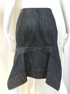 ALAIA denim skirt | From a collection of rare vintage skirts at https://www.1stdibs.com/fashion/clothing/skirts/