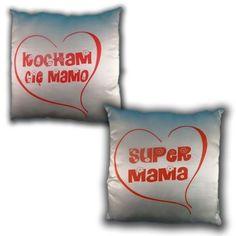 Wygodna poduszeczka, z obustronnym napisem i rysunkiem, dla Super Mamy!        Ilość sztuk: 1  Kolory: biało-czerwony  Wymiary: 35 x 35 cm  Waga: 0,38 kg