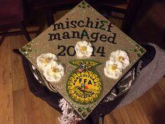 My Harry Potter/Sigma Alpha/FFA graduation cap :)
