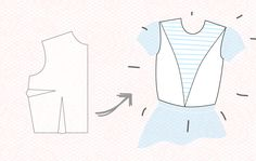 convert a bodice block to v-princess bodice! can't wait to try this with my cabana-stripe sateen; horizontal on the inner panel, vertical on the sides and back!