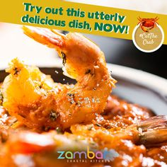 #CutTheCrab : Relish your Saturdays with Zambar's tangy, zesty, flavoursome 'Jhinga Tamatar'.    Try out this utterly delicious dish, NOW!
