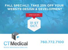You jump start your medical practice marketing by offering 25 off