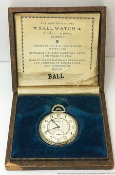 Jewelry & Watches Hamilton 992 P Solid Sterling Silver & Gold Inlays... Antique Independent Very Rare