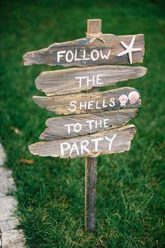 Ideas for wedding beach party signs Beach Wedding Signs, Beach Wedding Reception, Seaside Wedding, Beach Signs, Nautical Wedding, Wedding Reception Decorations, Relaxed Wedding, Coastal Wedding Ideas, Trendy Wedding