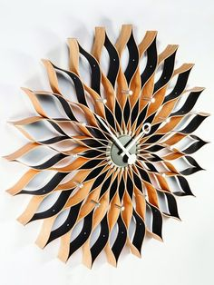 A George Nelson style sunflower wall clock.
