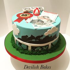 Devilish Bakes is a bespoke celebration and wedding cake designer based in Plymouth, Devon. Gooey Cookies, Gourmet Cookies, Crazy Cakes, Fancy Cakes, Cupcakes, Cupcake Cakes, Dad Birthday, Birthday Cakes, Birthday Ideas