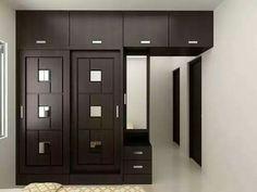 Classic 3 Panel Fineline Walnut Light Brown Glass Doors