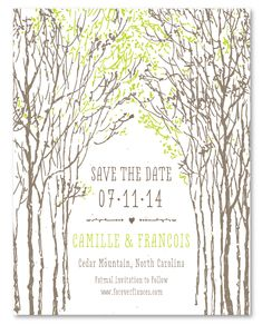 Tree Wedding Invitations Southern Tree