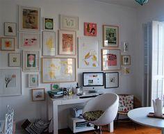 10 ideias e dicas para fazer uma linda parede de quadros - limaonagua