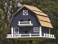 Amish Barn-style Martin Bird House With 12 Compartments
