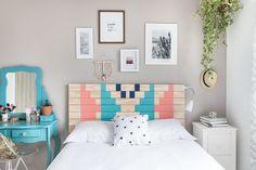 Meu quarto e uma cabeceira DIY